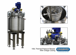 150L Thermal Pressure Reactor with charge cooling‏
