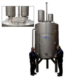 3000L Kettle matches performance and specification of 100L pilot plant